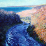 Loe Bar autumn landscape 60cmx60cm oil on board