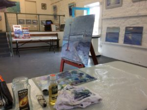 Cornwall art in Porthleven painting exhibition of original landscapes and seascapes