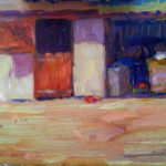 Stables 10''x8'' oil on board