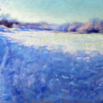 Frosty hedgerow 14''x10'' oil on board