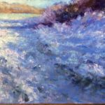 Winter oil painting of frost