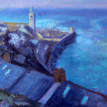 Porthleven harbour 10''x8'' oil on board