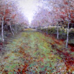 Woodland painting oil by A Barrowman
