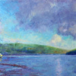 Moored at Mawgan Creek 16''x12'' oil on canvasboard