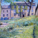'Old Hall Buxton' plein air painting by Andrew Barrowman