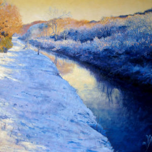 Snow by the Cober oil on board