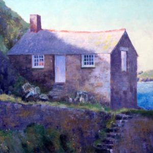 Cornish art - Mullion Cove painting