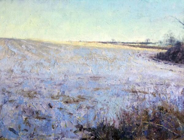 Winter field oil on board