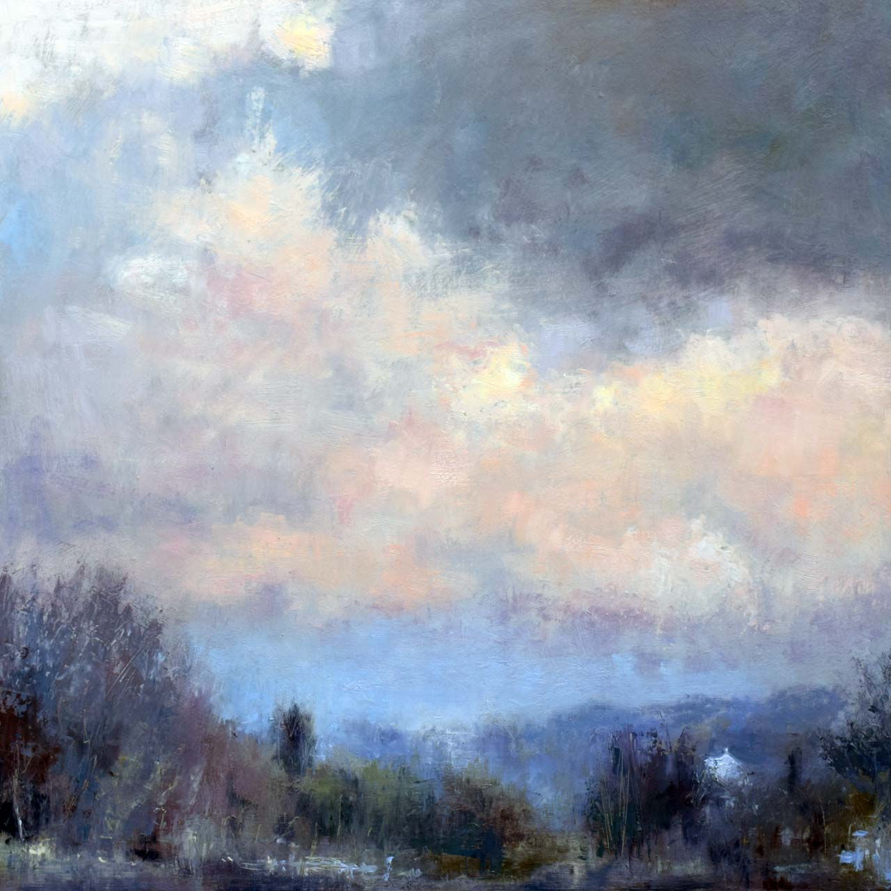 Winter sky oil painting by Andrew Barrowman