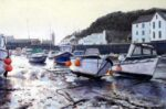 Porthleven harbour painting