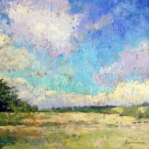 plein air painting - Summer meadow by Andrew Barrowman