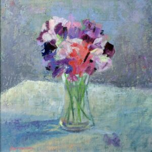 Sweet peas painting by A Barrowman