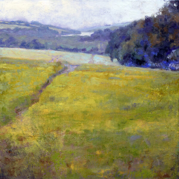 Summer fields painting plein air