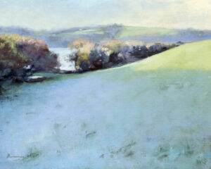 Light frost Helford River oil on canvas
