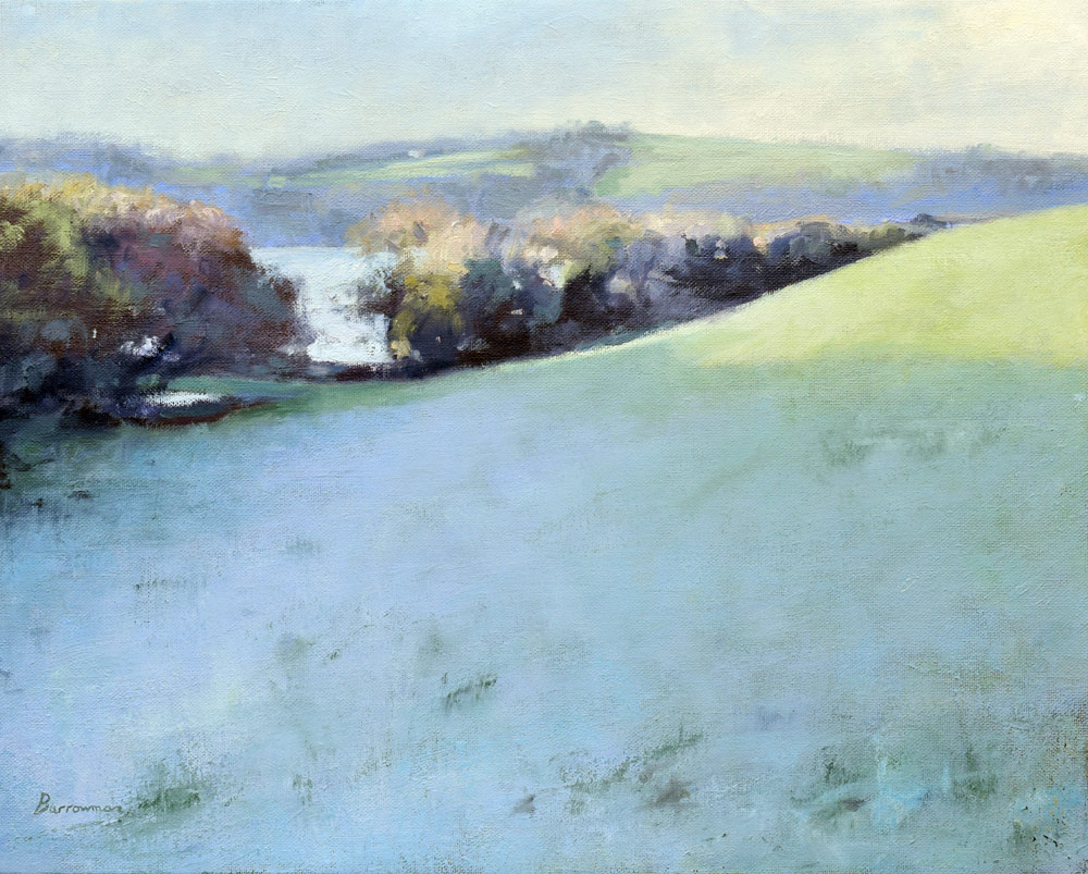 'Light frost Helford River' Oil on canvas