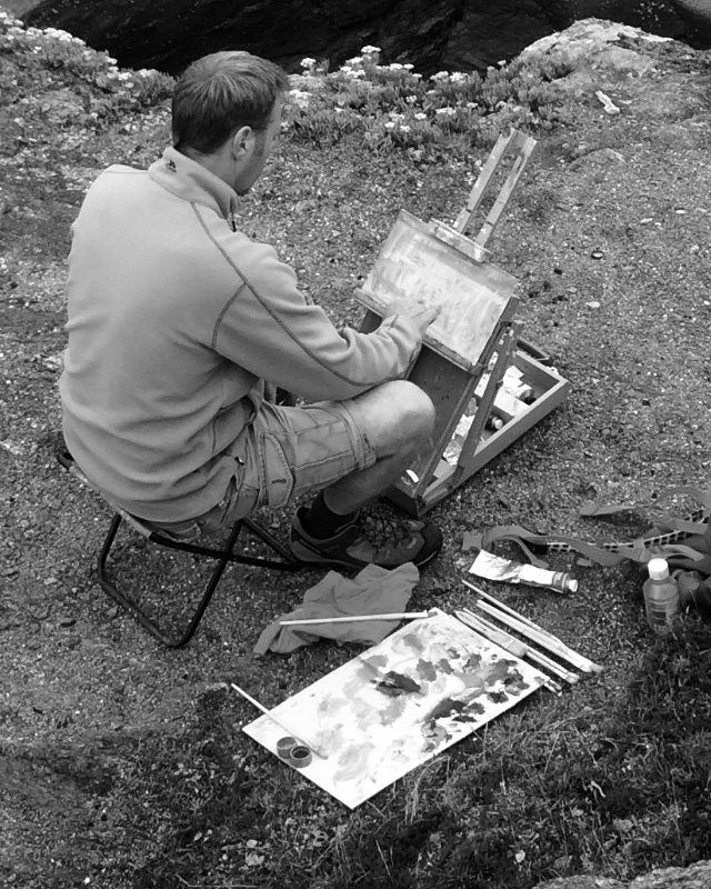 Plein air painting in Finistere Brittany