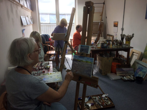 Oil painting morning workshop at Krowji