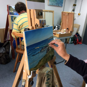Oil painting workshop Cornwall