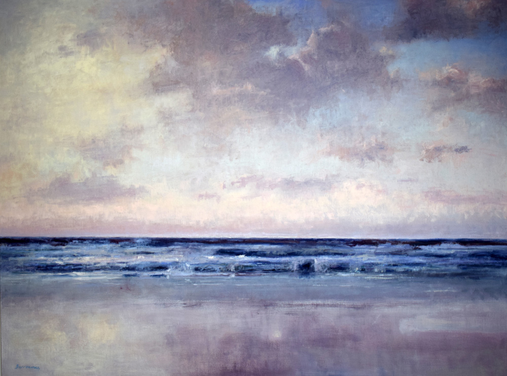 'Evening Atlantic reflections' Oil on canvas