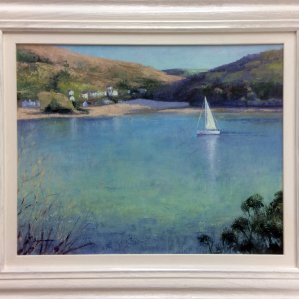 'Sailing into Salcombe' oil on aluminium panel