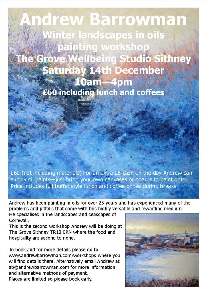 Oil painting workshop by Andrew Barrowman