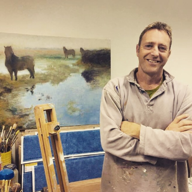 Oil painting with Andrew Barrowman