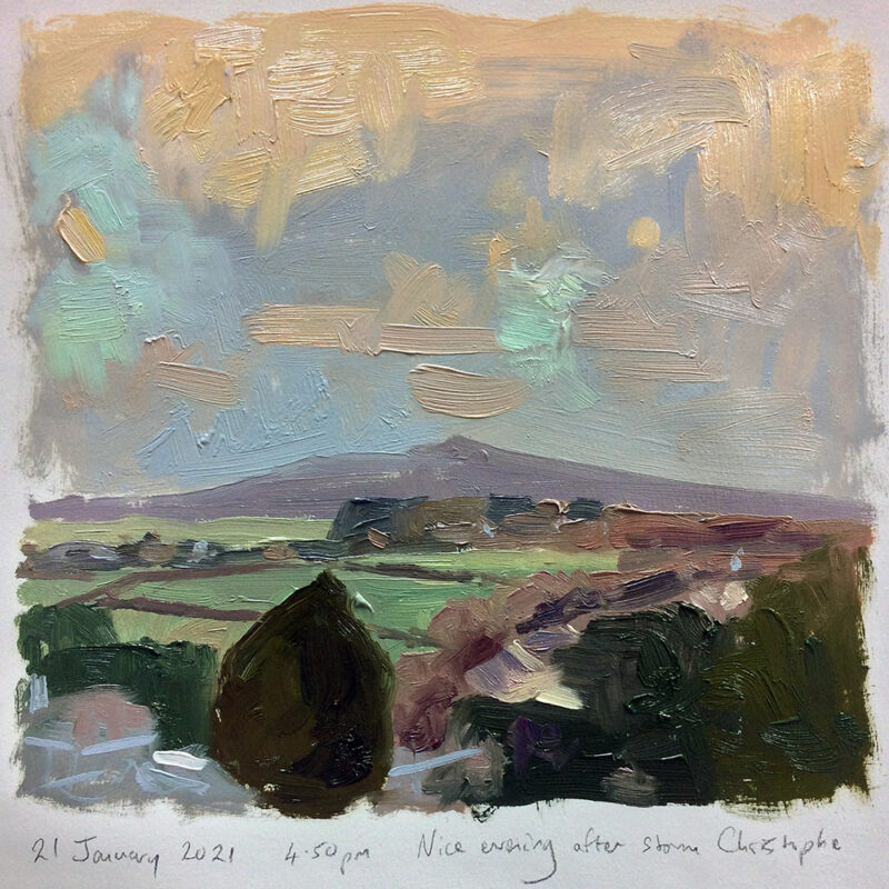 Andrew Barrowman - view from the studio in Cornwall