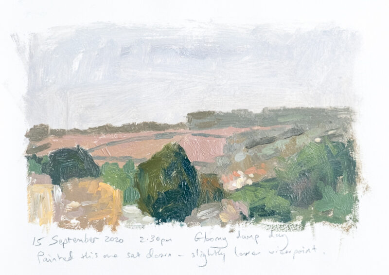 oil on paper 25/9/20 2.30pm